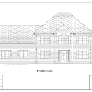 ss-8518cl-1 4 bedroom 2 bathroom colonial house plan