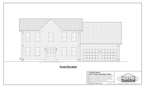 ss-8519cl-1 3 bedroom 1 bathroom colonial house plan