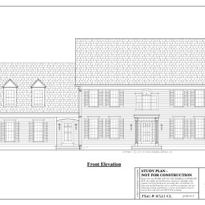 ss-8521cl-1 3 bedroom 2 bathroom colonial house plan