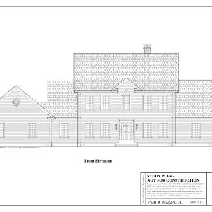 ss-8522cll-1 4 bedroom 2 bathroom colonial house plan