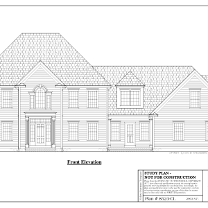 ss-8523cl-1 3 bedroom 2 bathroom colonial house plan