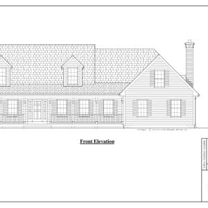 ss-8529cp-1 3 bedroom 2 bathroom cape house plan