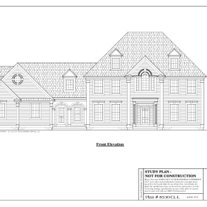 ss-8530cll-1 4 bedroom 3 bathroom colonial house plan