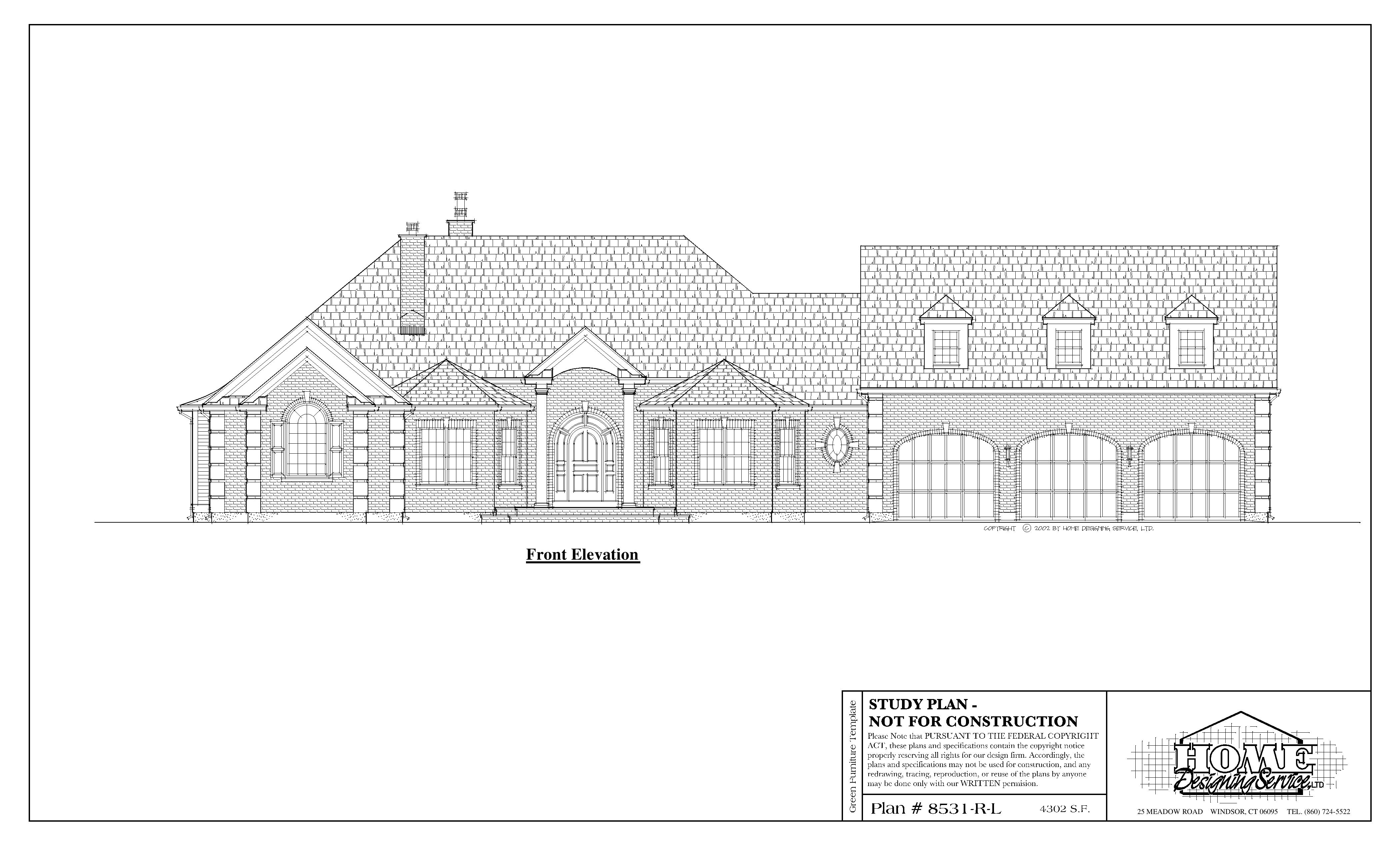 Ranch House Plan 8531-R-L - Home Designing Service Ltd. on