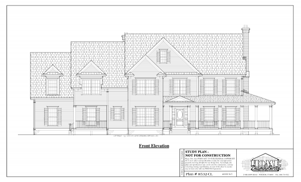 ss-8532cl-1 5 bedroom 3 bathroom colonial house plan