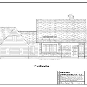 ss-8537cp-1 3 bedroom 2 bathroom cape house plan