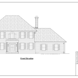 ss-8540cl-1 3 bedroom 2 bathroom colonial house plan