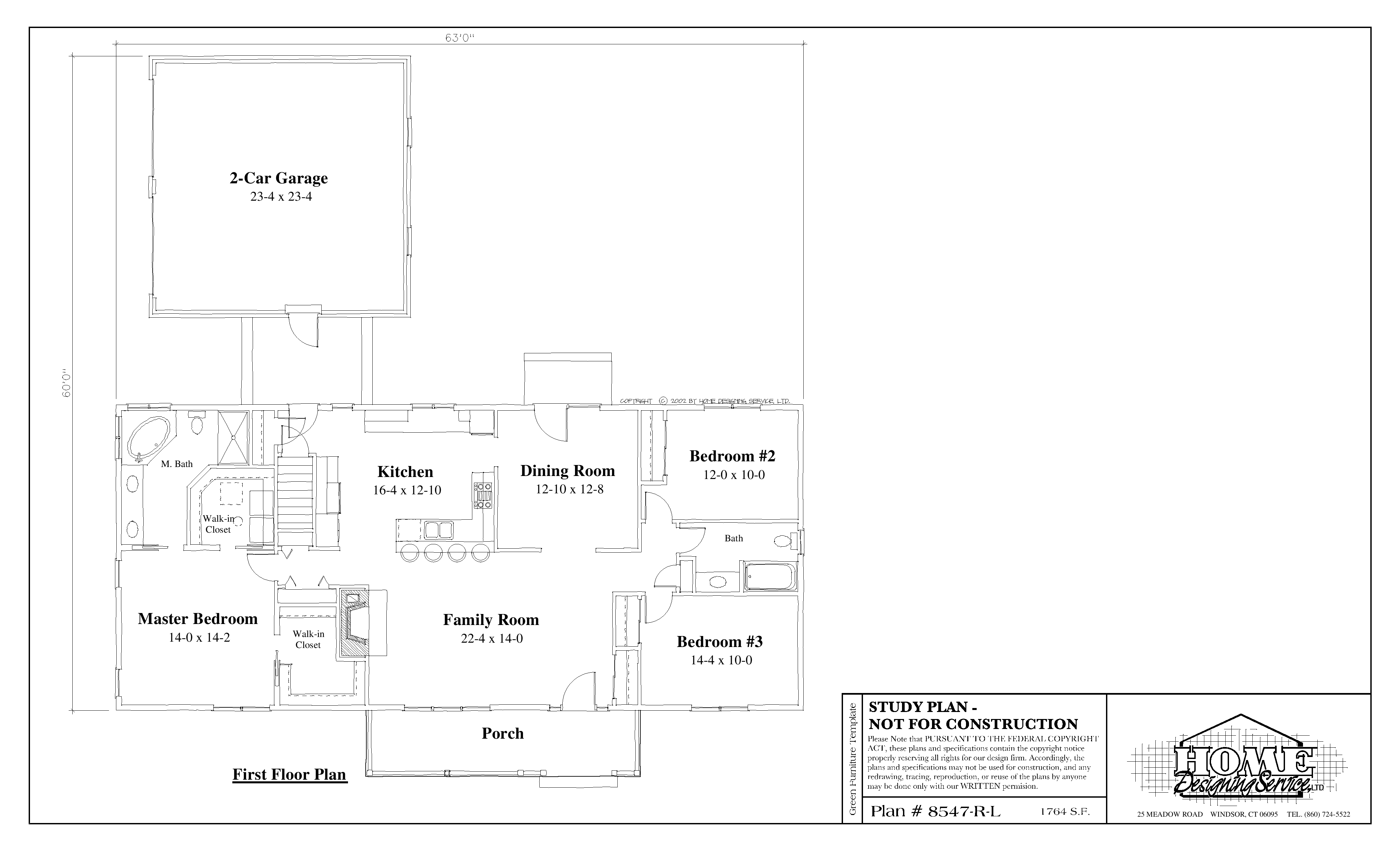 Ranch House Plan 8547-R-L - Home Designing Service Ltd. on 3-bedroom ranch homes, 3-bedroom ranch style house plans, house plans with 5 bedrooms and 3 bathrooms,
