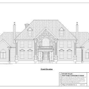 ss-8559cll-1 4 bedroom 3 bathroom colonial house plan