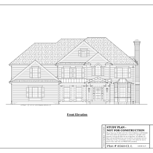 ss-8560cll-1 4 bedroom 3 bathroom colonial house plan