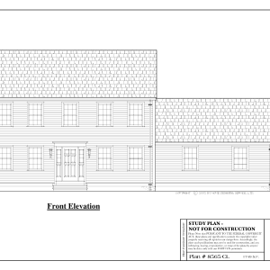 ss-8565cl-1 3 bedroom 2 bathroom colonial house plan