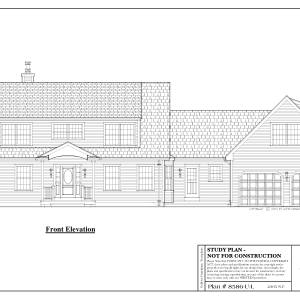 ss-8585cp-1 3 bedroom 2 bathroom cape house plan