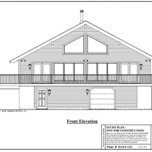 ss-8594ch-1 2 bedroom 1 bathroom chalet house plan