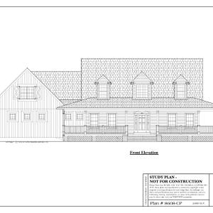ss-8608cp-1 3 bedroom 3 bathroom cape house plan
