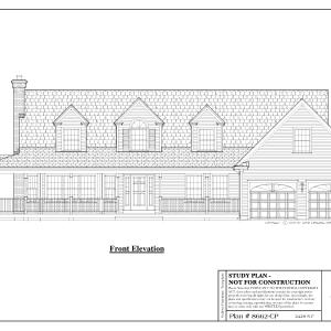 ss-8662cp-1 3 bedroom 2 bathroom cape house plan