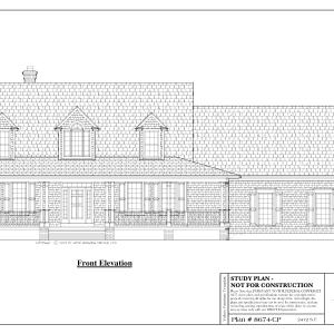 ss-8674cp-1 3 bedroom 2 bathroom cape house plan
