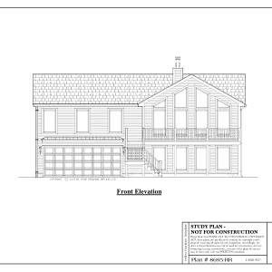 ss-8695rr-1 2 bedroom 2 bathroom raised ranch house plan