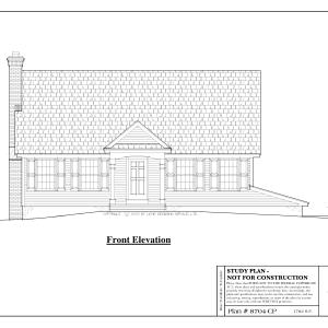 ss-8704cp-1 3 bedroom 2 bathroom cape house plan