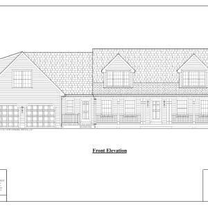 ss-8728cp-1 4 bedroom 2 bathroom cape house plan
