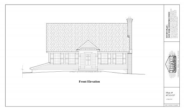 ss-8733cp-1 3 bedroom 2 bathroom cape house plan