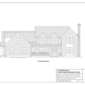 ss-8752cl-1 4 bedroom 4 bathroom colonial house plan with in-law