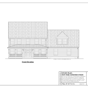 ss-8774cl-1 4 bedroom 3 bathroom colonial house plan with in-law