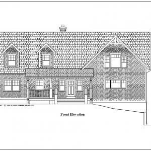 ss-8903cp-1 4 bedroom 3 bathroom cape house plan