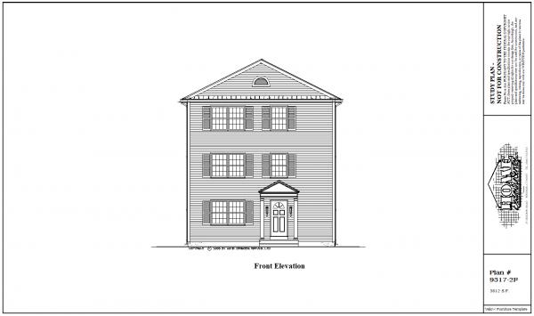 ss-93172f-1 9 bedroom 3 bathroom three family house plan