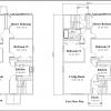 ss-93172f-2 9 bedroom 3 bathroom three family house plan