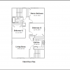 ss-93172f-7 9 bedroom 3 bathroom three family house plan