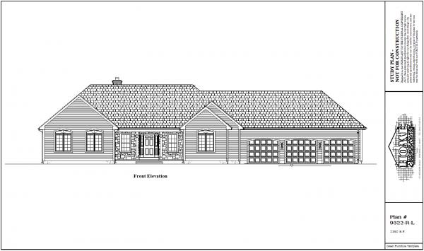 ss-9322rl-1 3 bedroom 2 bathroom ranch house plan