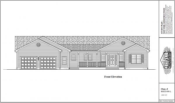 ss-9323rl-1 2 bedroom 2 bathroom ranch house plan