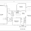 ss-9325cl-2 4 bedroom 2 bathroom colonial house plan