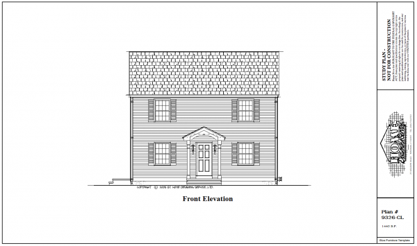 ss-9326cl-1 3 bedroom 1 bathroom colonial house plan