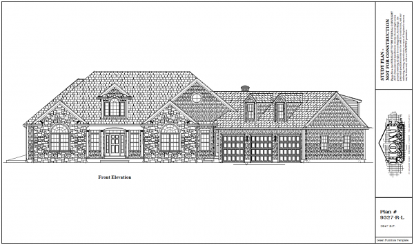ss-9327rl-1 3 bedroom 2 bathroom ranch house plan