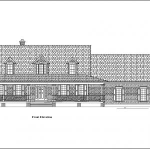 ss-9360cp-1 3 bedroom 2 bathroom cape house plan
