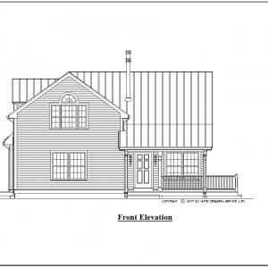 ss-9430ch-1 3 bedroom 2 bathroom chalet house plan