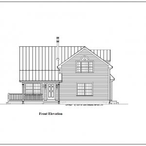 ss-9431ch-1 3 bedroom 2 bathroom chalet house plan