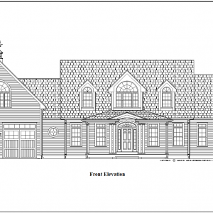 ss-9538cp-1 3 bedroom 2 bathroom cape house plan