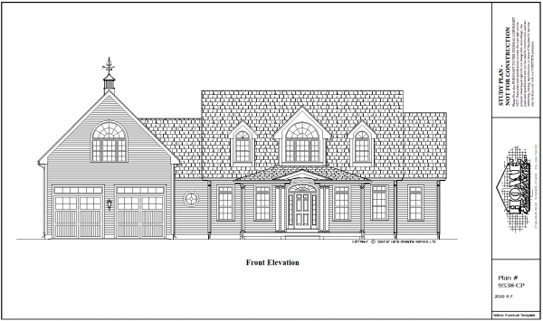 ss-9538cp-1 3 bedroom 2 bathroom cape house plan