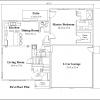 ss-9578cp-2 3 bedroom 2 bathroom cape house plan