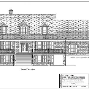 ss-9643cp-1 3 bedroom 2 bathroom cape house plan