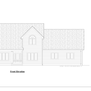 ss-9645cp-1 3 bedroom 2 bathroom cape house plan