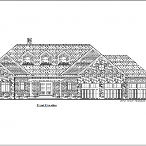 ss-9803r-1 4 bedroom 3 bathroom ranch house plan with apartment