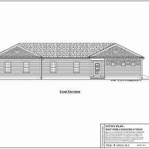 ss-9805rl-1 4 bedroom 3 bathroom ranch house plan with inlaw apartment