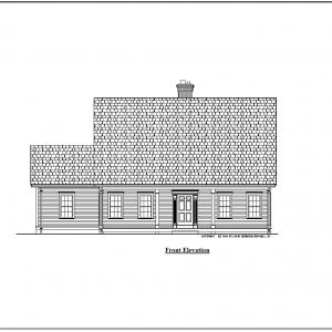 ss-9911cpl-1 3 bedroom 2 bathroom cape house plan