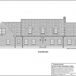 ss-9942cp-1 4 bedroom 2 bathroom cape house plan