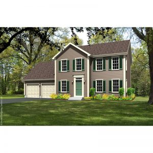 7856-CL-colonial style house plan 3d rendering sq