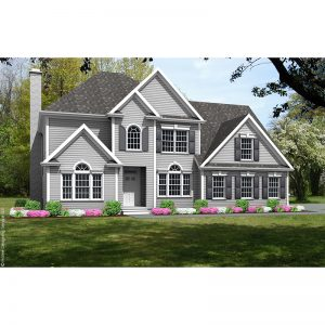 8896-U unique traditional style house plan 3d rendering sq