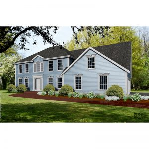 9172-CL-colonial style house plan 3d rendering sq